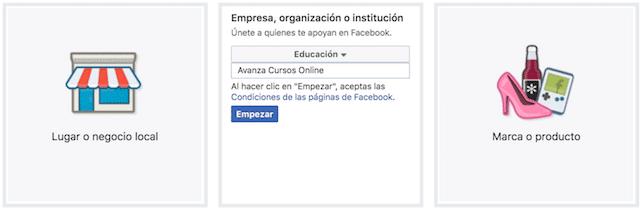 nombre pagina facebook