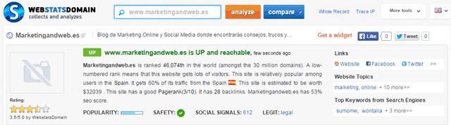 web stats domain