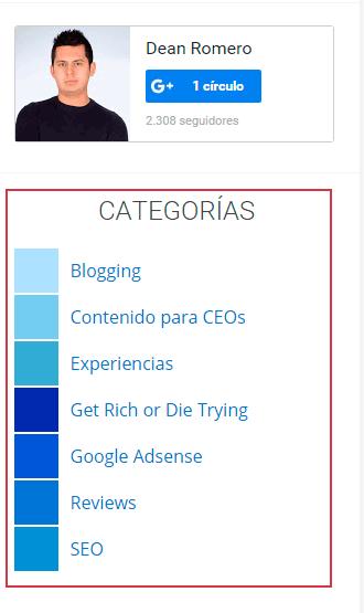 categorias dean romero