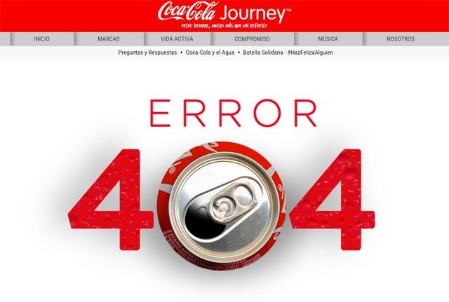 error 404 coca cola