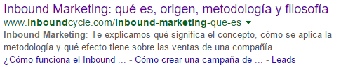resultado google inbound marketing