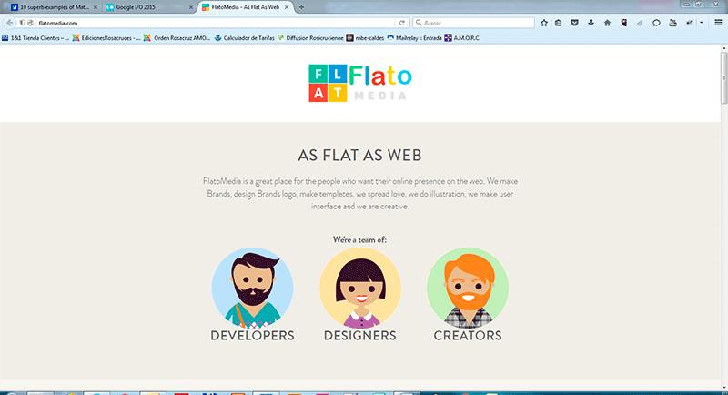 diseño web flat