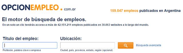opcion empleo argentina