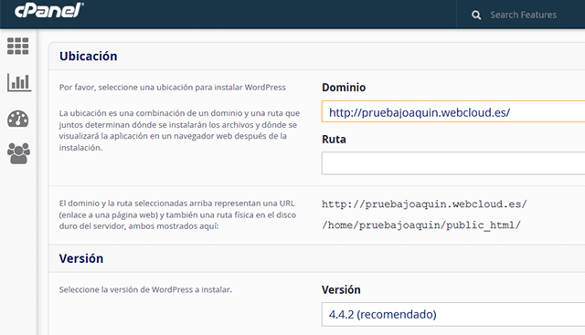 instalar wordpress dominio web