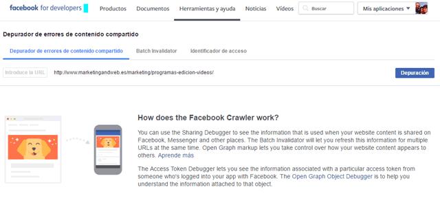 scrapear url facebook