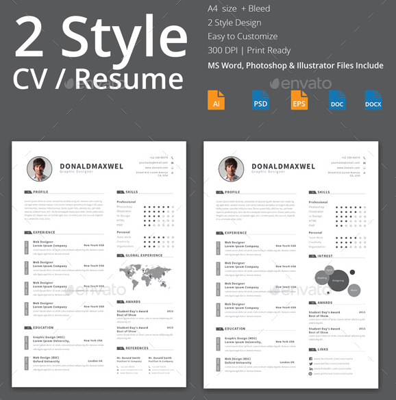 plantilla-cv-resume-word