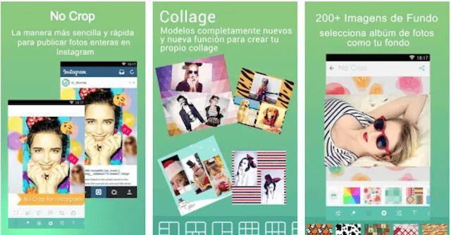 Aplicacion para recortar fotos instagram