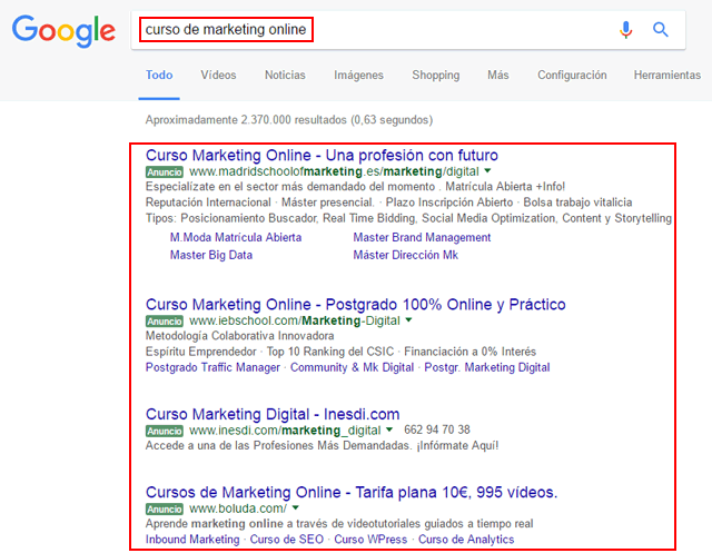 publicidad buscador google
