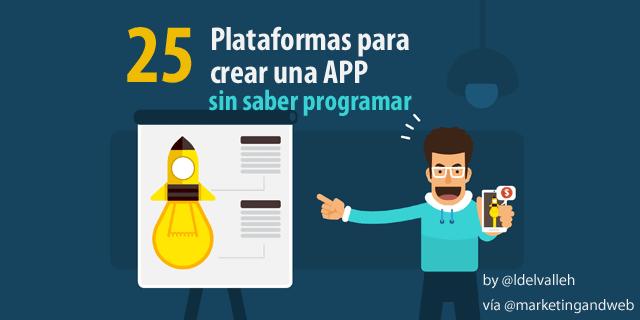 Cómo crear una app sin saber programar, 25 plataformas