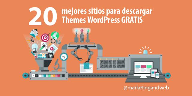 Los 20 mejores sitios para descargar themes WordPress gratis