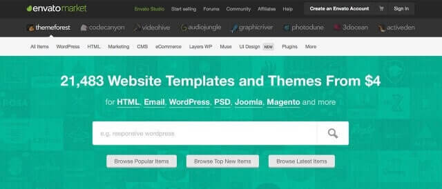 themeforest themes para wordpress