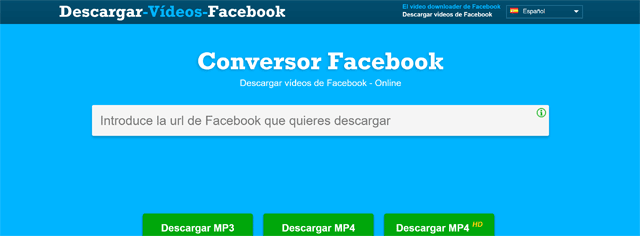 Descargar video facebook online
