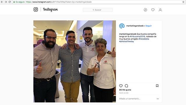 ejemplo instagram