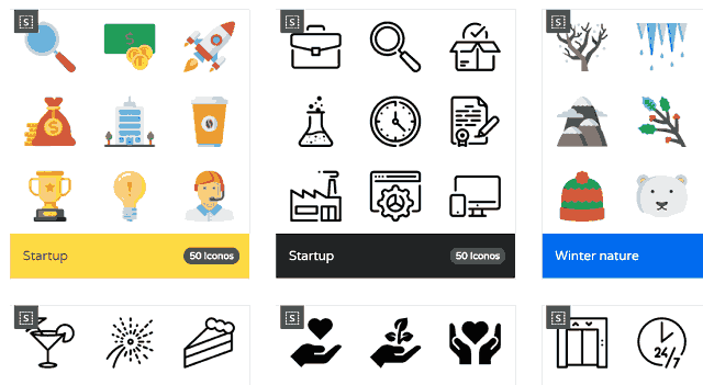 Iconos pagina web