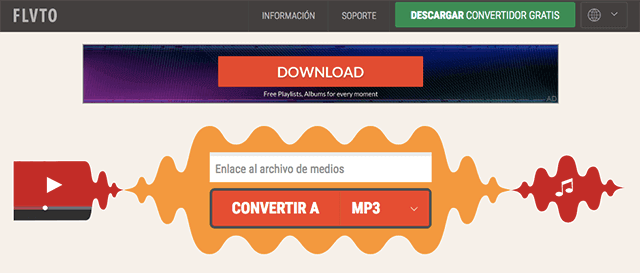 convertidor youtube mp3 flvto