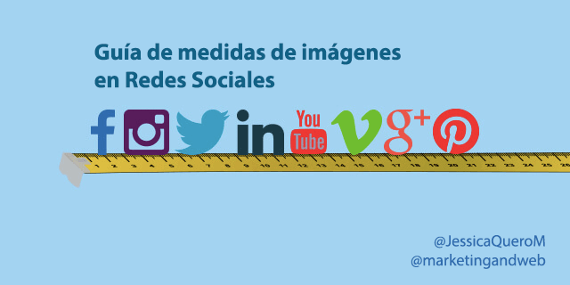 medidas de imágenes de redes sociales