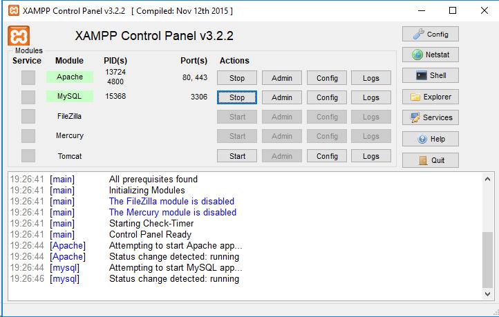 Xamp Control