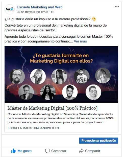 anuncio escuela marketing and web