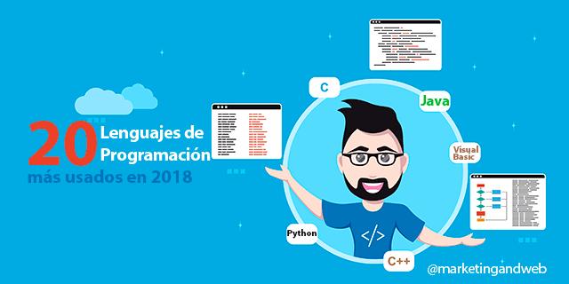 20 Lenguajes de Programación más usados en 2018