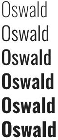 oswald google font