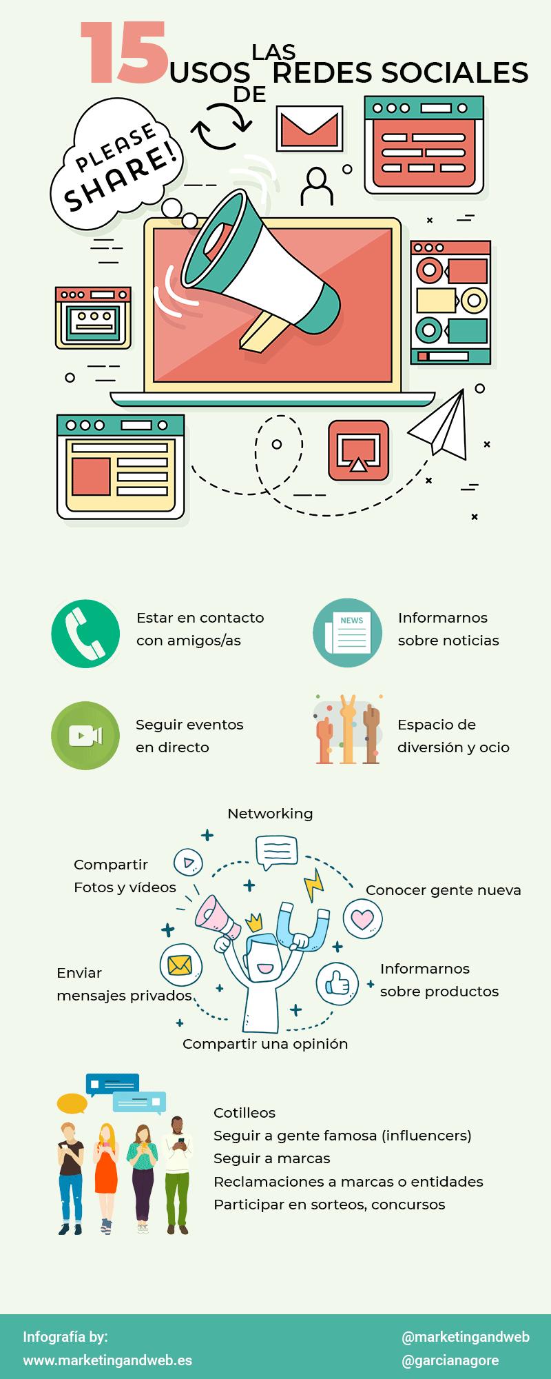 para que sirven las redes sociales infografía