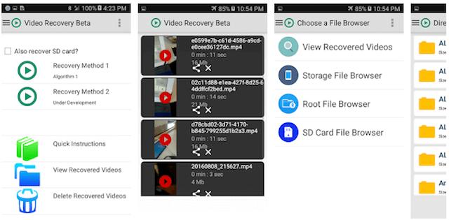 aplicacion para recuperar videos borrados