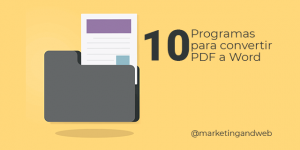 Convertir PDF a Word GRATIS 🥇10 Programas Online