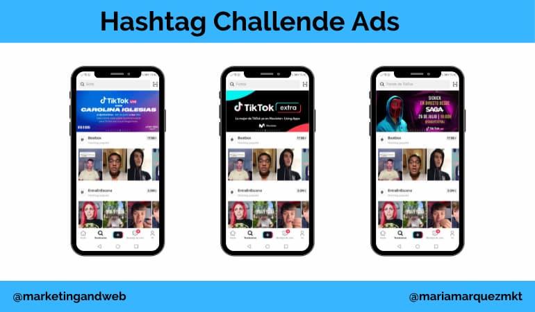 publicidad en tik tok hashtag challenge