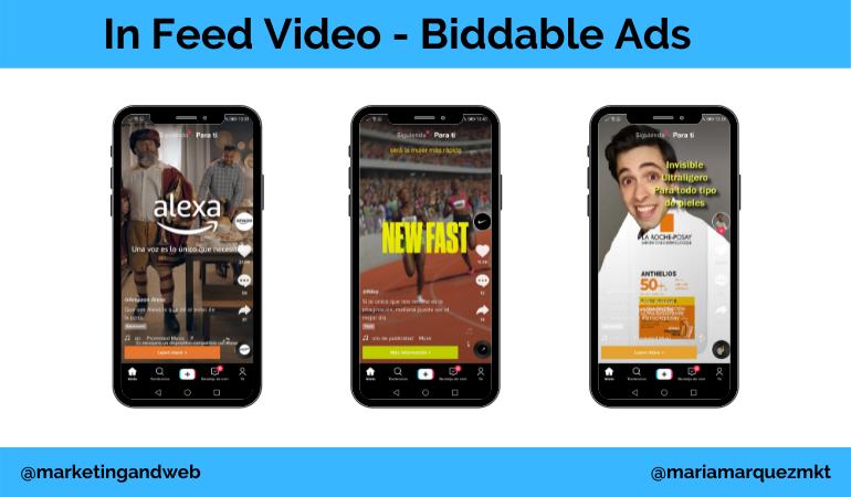 publicidad en tik tok in feed video